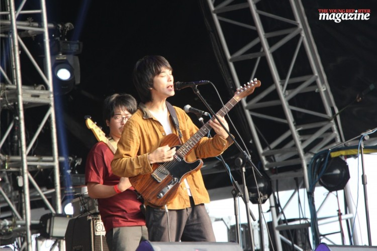 Shugo Tokumaru treated festival-goers to an array of indie tunes, complete with an xylophone. (Photo: Tanya McGovern)