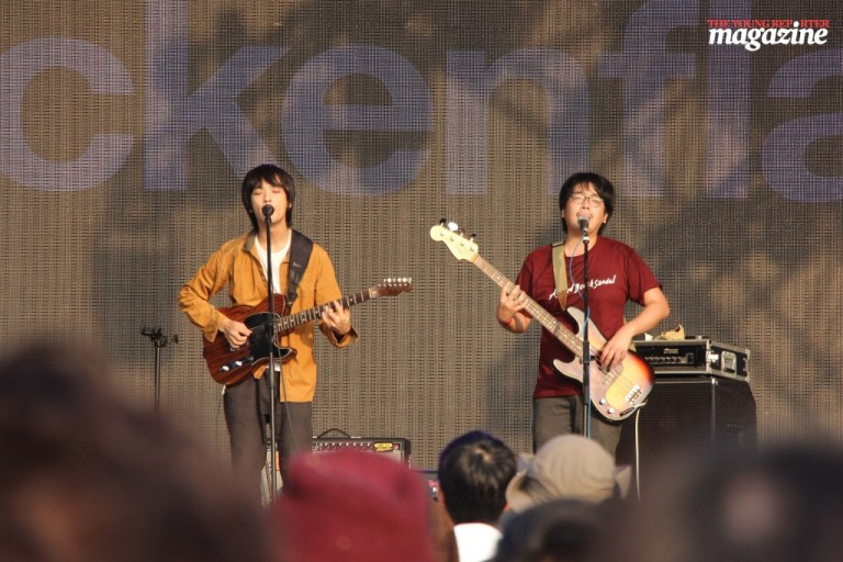 Tokumaru performs at the Atum Stage on day three of Clockenflap. (Photo: Tanya McGovern)
